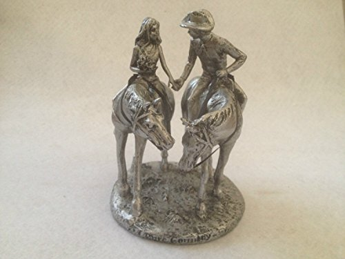 Resin Bronze Look Cowboy And Cowgirl on Horse Figure Statue Home D¨¦cor (Bronze Resin Statue compare prices)