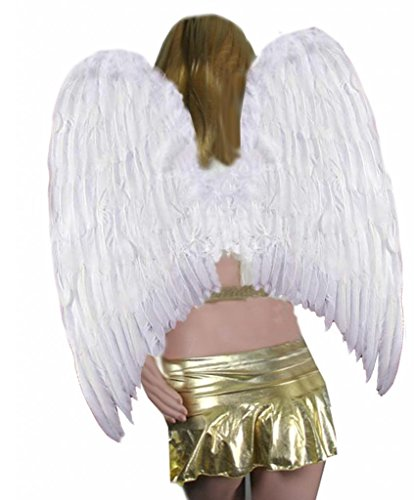 SACASUSA Extra Large Feather Halloween Fairy Angel Wing s in White one size (Big Feather Fans compare prices)