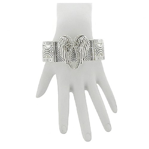 Angel Wings with Stone Stretch Bracelet #042021