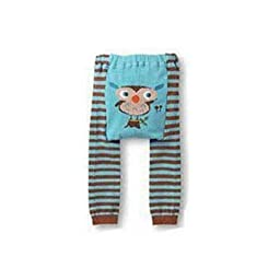 Wrapables Baby & Toddler Leggings, Owl and Stripes - 6 to 12 Months