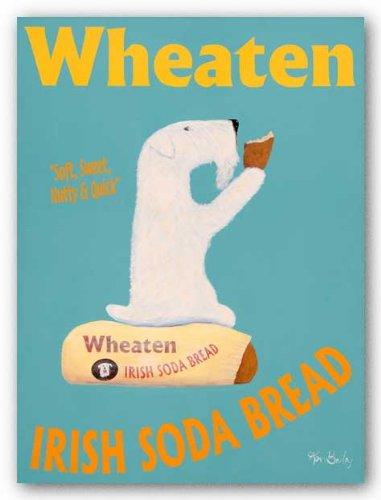 à poil doux Irlandais Soda à pain par Ken Bailey Art Print Poster