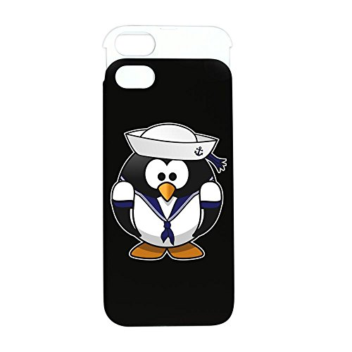 iPhone 5 or 5S Wallet Case Black and White Little Round Penguin - Navy Sailor