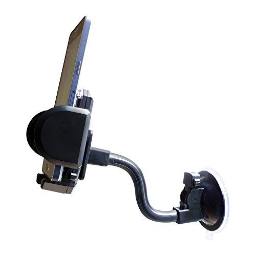 Kfz-Universal-Halterung-mit-Saugfuss-Schwanenhals-und-Lftungsgitter-Klammern-fr-alle-Smartphones-Navigationsgerte-Handys-PDAs-und-sonstige-tragbare-Gerte-mit-einem-Seitenma-von-35-bis-105-mm