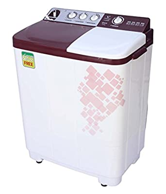 Videocon VS72H11 Semi-automatic Top-loading Washing Machine (7.2 kg, Gracia Dark Maroon)