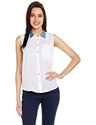Lee Women's Tunic Shirt (LESH9104_White_Large)