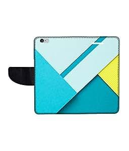 KolorEdge Printed Flip Cover For Apple Iphone 6 Multicolor - (47KeMLogo11767IPhone6)