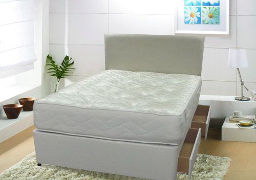 Orthopaedic Divan Bed 6ft Super King Size Including Firm Orthopaedic Mattress - 2 Drawer Same Side