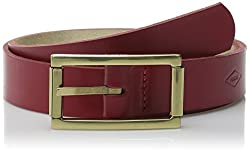 Fossil Women's Reversible Roller Buckle Belt, Real Red, Large