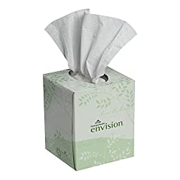 Georgia-Pacific Envision 47510 White Facial Tissue, Cube Box, 8\