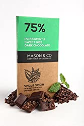 Mason & Co. 75% Dark Chocolate with Peppermint & Sweet Nibs, 70g