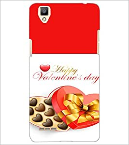 PrintDhaba Valentines Day D-4727 Back Case Cover for OPPO F1 (Multi-Coloured)