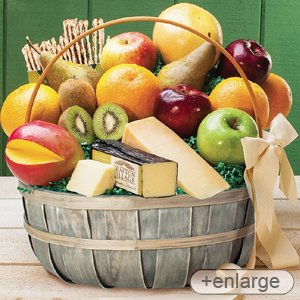 Stew Leonard's – Jumbo Cheese & Fruit Basket