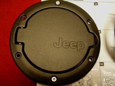 Jeep Wrangler 2007-2012 Jk 4Dr Black Fuel Door Mopar Oem