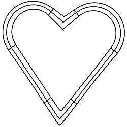 "FloraCraft, 16"" Heart Wire Wreath"