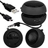 Fone-Case Motorola DEFY Mini Capsule Rechargable Loud Speaker 3.5mm Jack To Jack Input (Black)