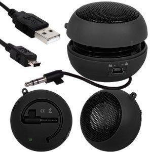 Fone-Case Samsung Star 3 Duos S5222 Mini Capsule Rechargable Loud Speaker 3.5Mm Jack To Jack Input (Black)