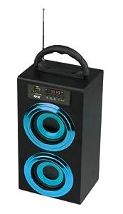 QuantumFX CS-97US Portable Multimedia Boom Box Speaker with USB/SD/AUX Inputs & FM Radio