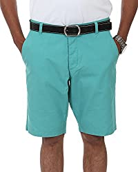 Irene Men's Cotton Shorts (Ire-mens-shortsgreen_32,Green,32)