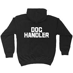 123t Dog Handler ... Breast & Back Design - HOODIE