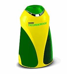 Dixon Ticonderoga Personal Electric Pencil Sharpener, Vertical, Yellow & Green (39571)