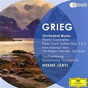 Grieg Orchestral Works - Piano Concerto Peer Gynt Suites Nos1 2 From Holbergs Time Two Elegiac Melodies Lyric Suite from Deutsche Grammophon