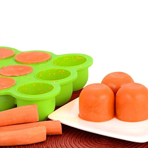 Silicone Baby Food Freezer Tray With Lid