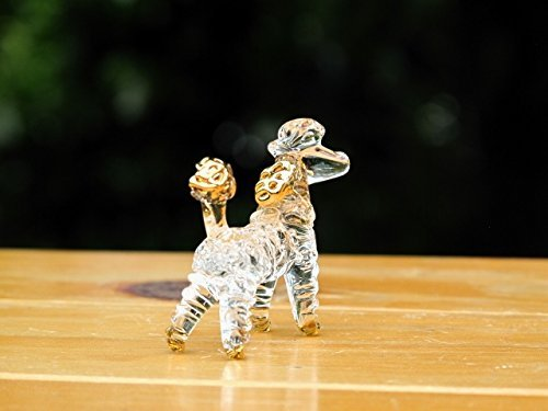 Handmade PoodleBlown Glass Figurine