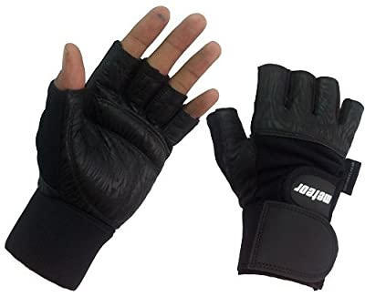 Meteor Pro Gym Gloves With Wrist Support Black Leather MT-02 SMALL from METEOR