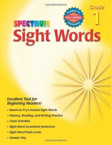 Sight Words, Grade 1 (Spectrum)