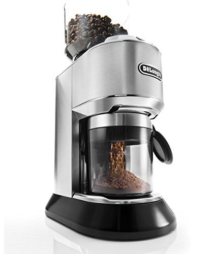 DeLonghi America KG521 Dedica Conical Burr Grinder with Porta Filter Attachment, Silver
