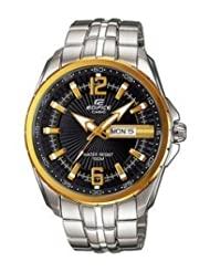 Casio Edifice Analog Black Dial Men's Watch - EF-131D-1A9VDF (ED445)