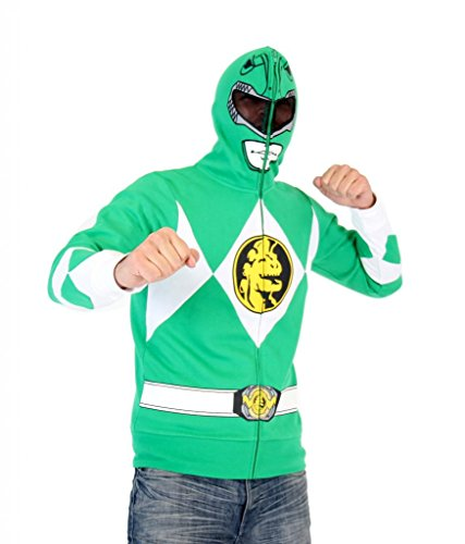 Power Rangers I Am Green Ranger Adult Full Zip Costume Hoodie (Adult Medium) (Power Rangers Green Tshirt compare prices)