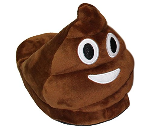 Minetom Donna Pantofole Emoji Invernali Peluche Pistone Caldo Marrone EU 42