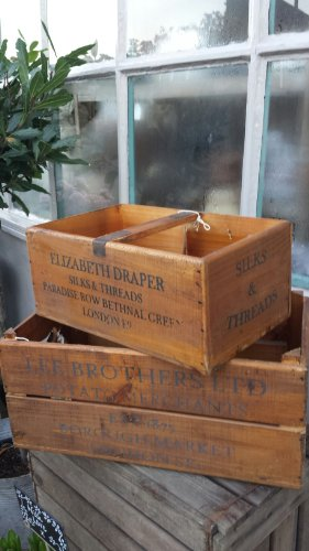 Set of two vintage wooden boxes