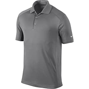 Nike Golf 2014 Dri-FIT Victory Polo Pewter Grey/White Small