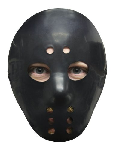 Hockey Mask Black Halloween Costume - Most Adults