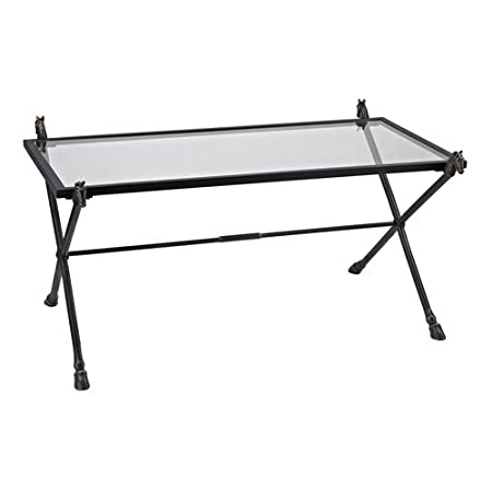 Sterling Industries 148-001 Coffee Table In Bronze With Highlight, Clear Glass