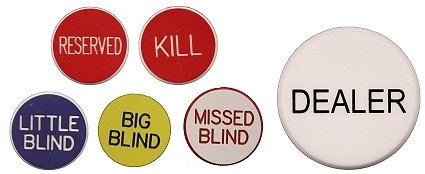 Why Should You Buy Set of 6 Professional Casino Texas Holdem Poker Dealer Buttons