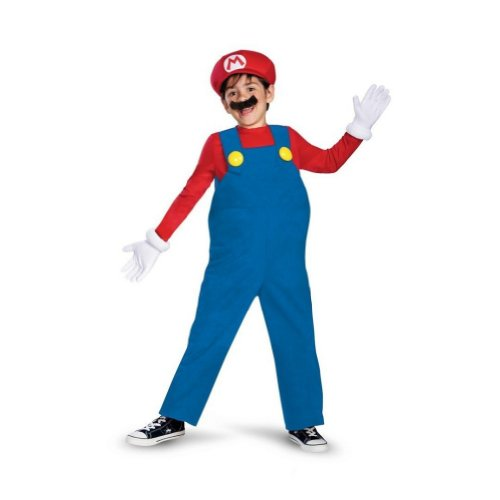 Super Mario Brothers Boys Mario Costume with Inflatable Belly