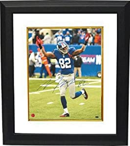 Mario Manningham Autographed Hand Signed New York Giants 16X20 Photo Custom Framed-... by Hall of Fame Memorabilia