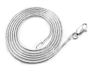 1mm Nickel Free Sterling Silver Italian Snake Chain Necklace 24