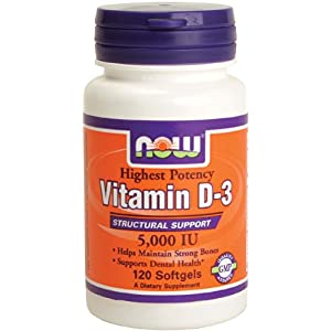 NOW Foods - Highest Potency Vitamin D-3 5000 IU Best Deals.