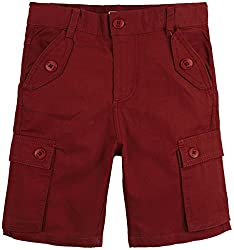 Oye HD Poplin Cargo Shorts - Brown (2-3 Y)