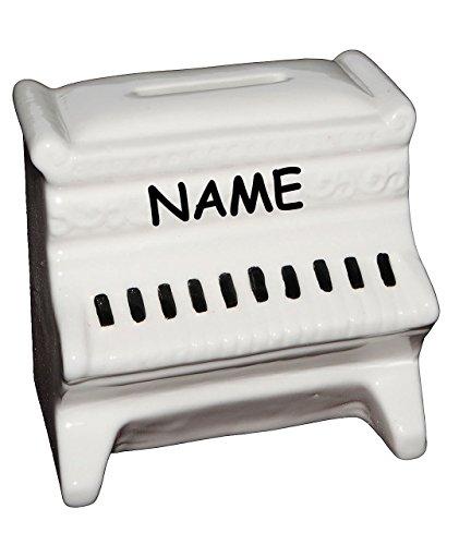 Klavier-Piano-groe-Spardose-incl-Name-Sparschwein-lustig-witzig-stabile-Sparbchse-aus-Porzellan-Keramik-Musik-Instrument-Instrumente-Unterricht-Reisekasse-Kinder-Mdchen-Jungen-Geldgeschenk-Flgel-Keybo