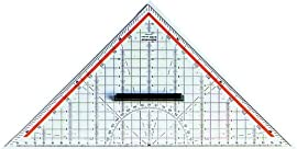 Professional Geometry Set Square Drawing Drafting Triangle 325mm with removable Grip