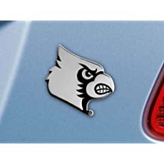 Buy FANMATS NCAA University of Louisville Cardinals Chrome Team Emblem by Fanmats