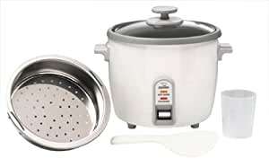 Zojirushi NHS-10 6-Cup (Uncooked) Rice Cooker/Steamer & Warmer, White