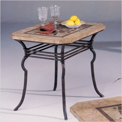 Image of Hammary T1003120-00 Seville Terrace Rectangular End Table in Aged Marble (T1003120-00)