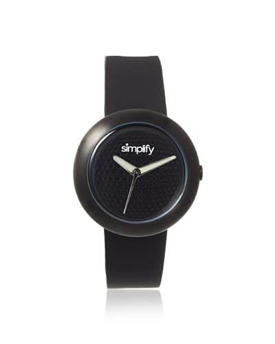 Simplify Women's SIM1207 The 1200 Black Leather Watch