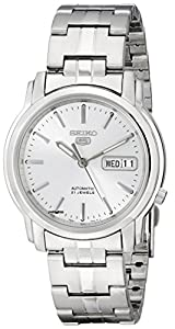 Seiko Men's SNKK65 Seiko 5 Automatic Silver Dial Stainless-Steel Bracelet Watch
